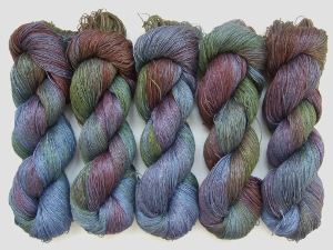 HAND DYED YARNS FOR SALE - HAND DYED LINEN YARN